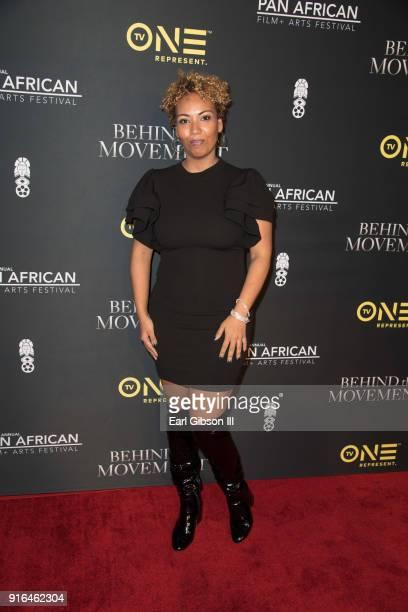 Moderator/VP News and men's programming Interative One Jamilah Lemieux attends Pan African Film Festival'Behind The Movement' Screening at Baldwin...