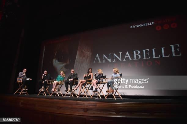 Moderator/writer David Leslie Johnson director David F Sandberg actors Miranda Otto Anthony LaPaglia Stephanie Sigman Talitha Bateman and Lulu WIlson...