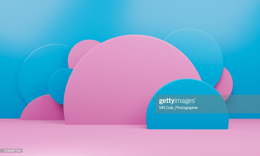 Modern 3D abstract background platform for product presentation : Stock Photo