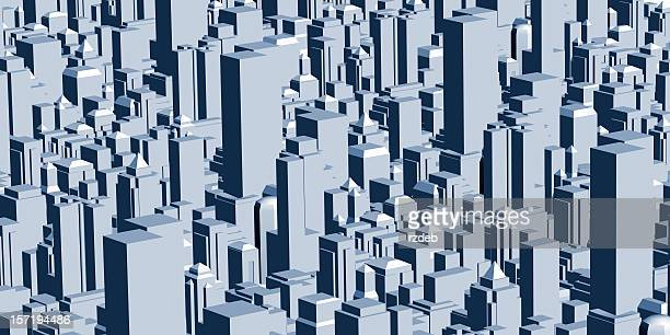 modern 3d city - isometric projection stock photos and pictures