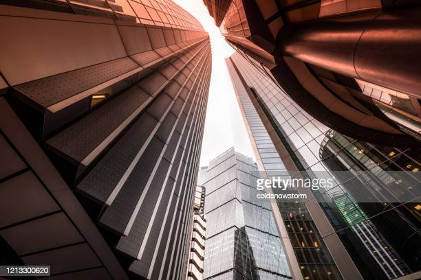 modern abstract architecture in city of london - central london stock pictures, royalty-free photos & images