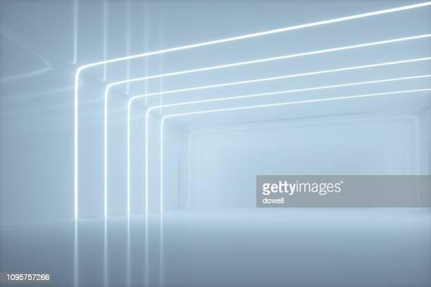 modern abstract interior,3d render - 白 空間 ストックフォトと画像