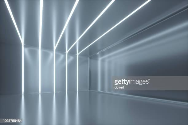 modern abstract interior,3d render - architektur stock-fotos und bilder