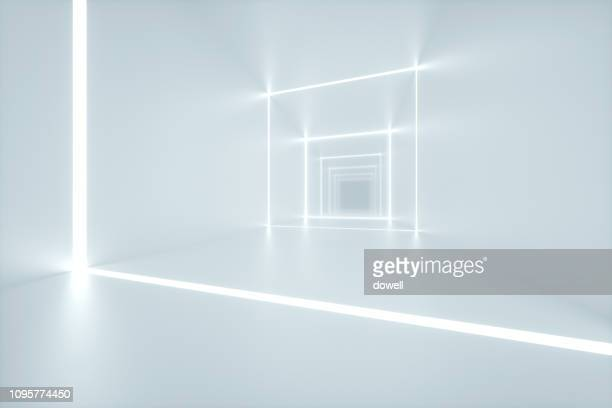 modern abstract interior,3d render - futuristisch stockfoto's en -beelden