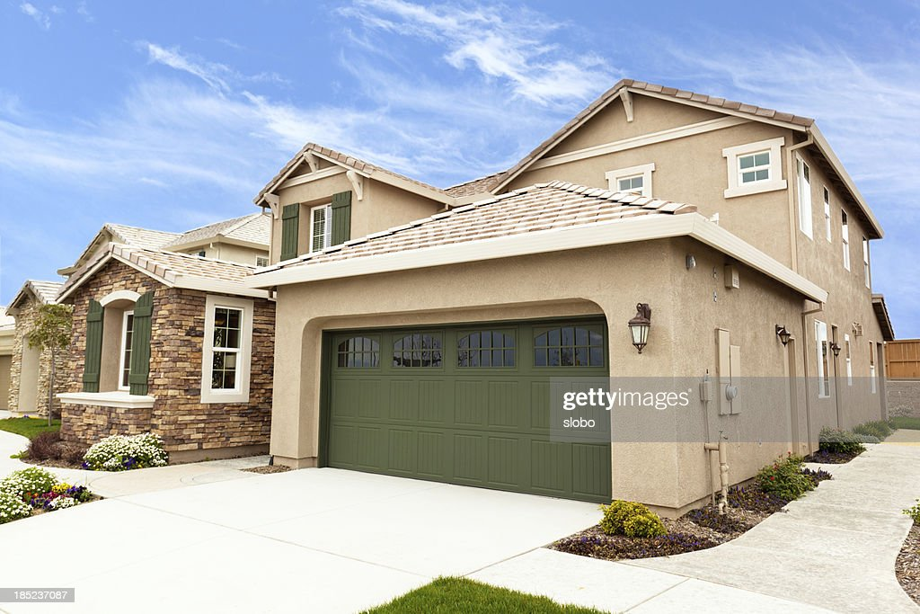 Modern American Suburb Houses : Stock Photo