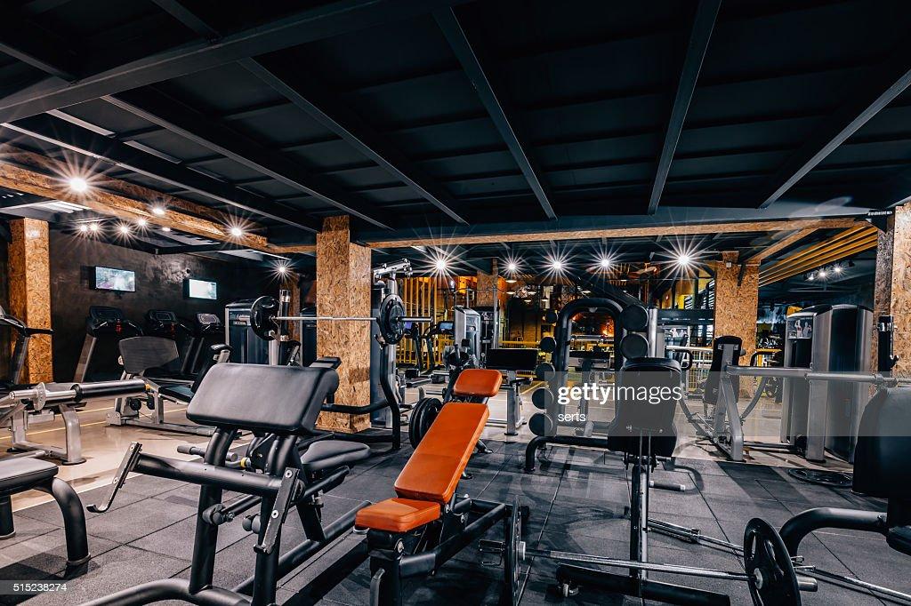Modern and Big Gym : Stock Photo