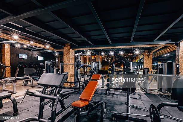 modern and big gym - mass unit of measurement stock pictures, royalty-free photos & images
