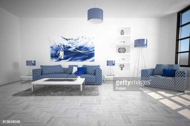 modern and cozy living room interior - carpet decor stock pictures, royalty-free photos & images