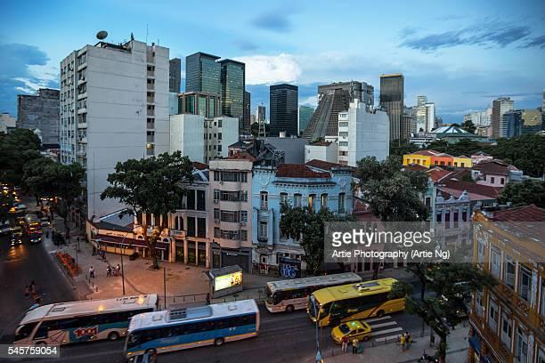 Modern and Historic Buildings of Lapa, Rio de Janeiro, Brazil, South America