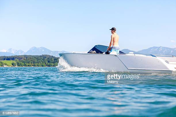 Modern and Luxury Power Or Motor Boat With Electric Engine / Motor