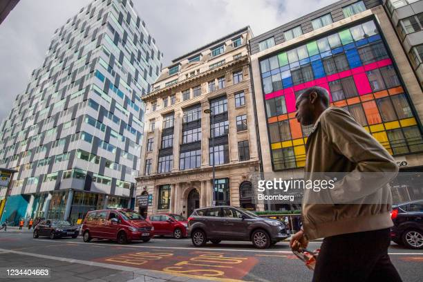 Modern and traditional buildings in the financial district in Liverpool, U.K., on Monday, Aug. 2, 2021. Just 17 years after Liverpool was listed as a...