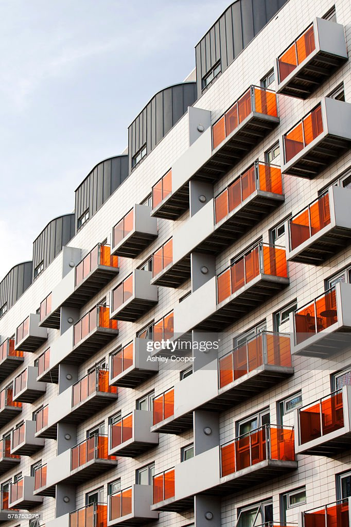 A Modern Apartment Block In Manchester City Centre Uk Stock Photo