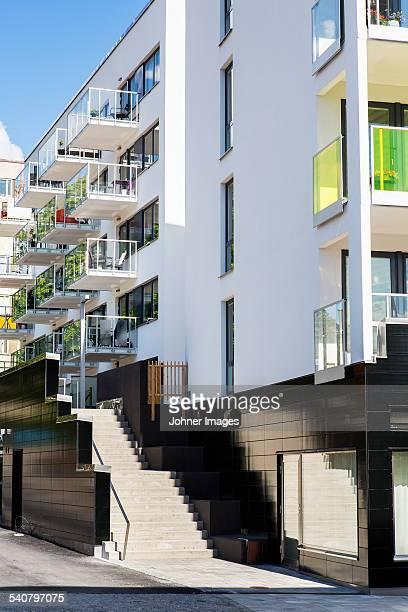 Modern apartment building