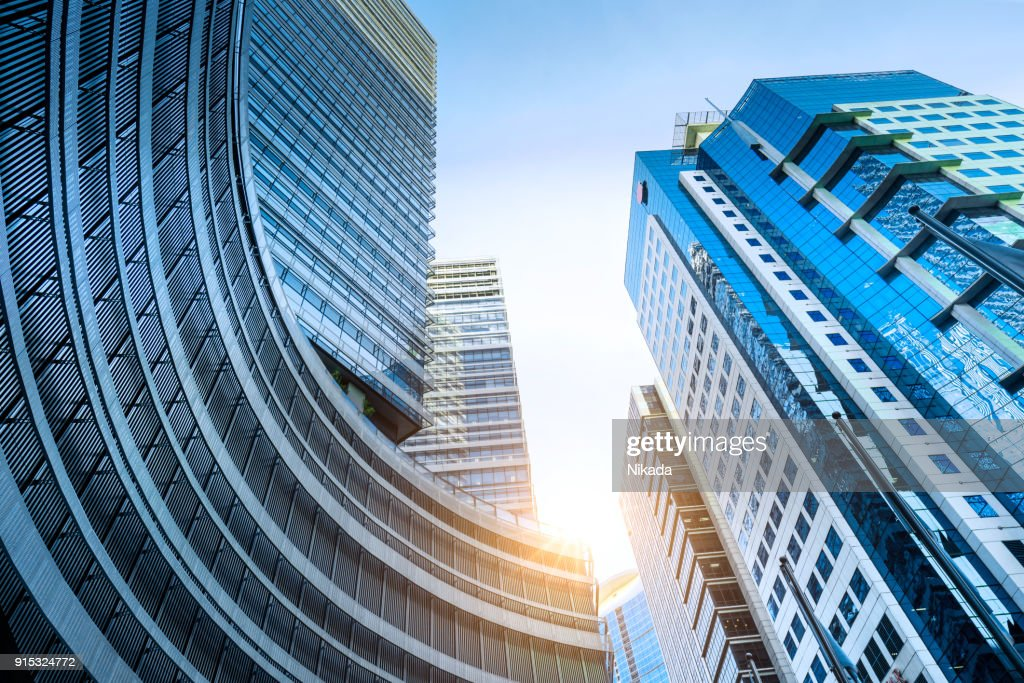 Modern apartment building skyscrapers : Stock Photo