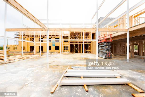 modern apartment construction hdr - real estate developer stock pictures, royalty-free photos & images