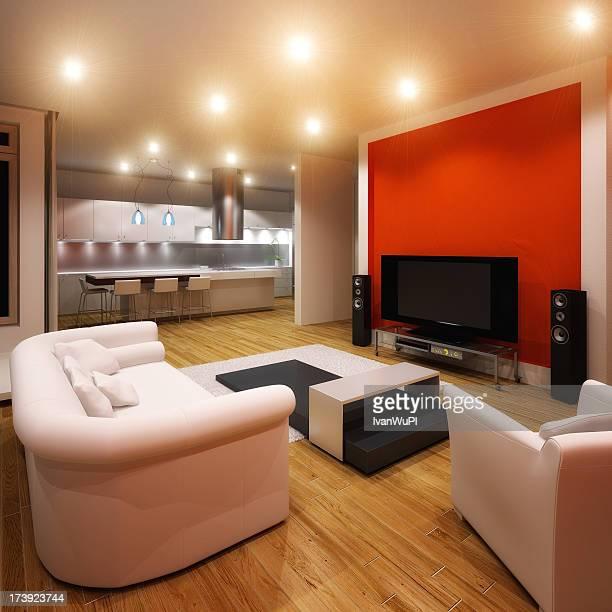 Modern apartment with minimalist furnishings