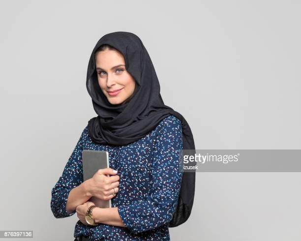 Modern arabic woman with digital tablet