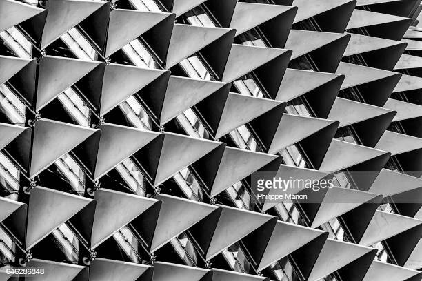 Modern architectural exterior abstract, Singapore