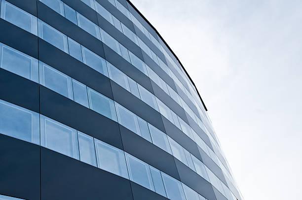 modern architectural glass metal facade