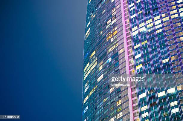 modern architecture background - wall building feature stock photos and pictures