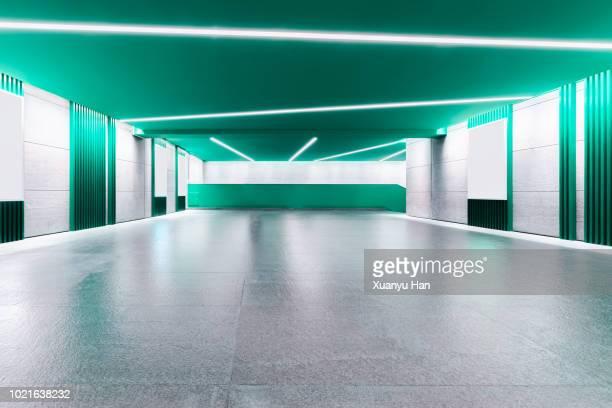 Modern architecture, green corridor