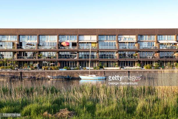 modern architecture in amsterdam, the netherlands - north holland stock pictures, royalty-free photos & images