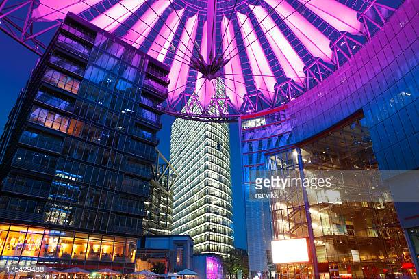modern architecture in berlin - sony center berlin stock pictures, royalty-free photos & images