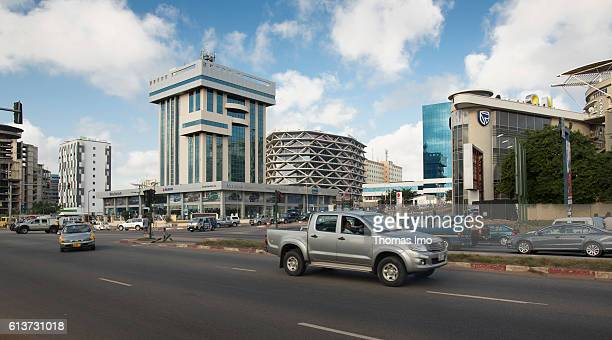 Modern architecture in Ghana's capital Accra on September 08 2016 in Accra Ghana