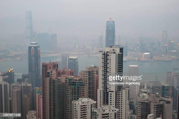 modern architecture in hong kong - argenberg stock-fotos und bilder