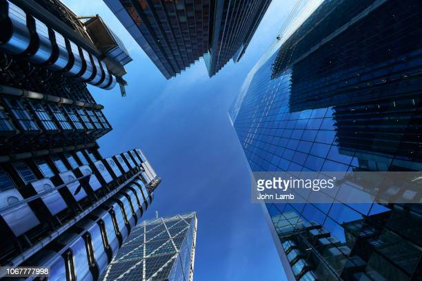 modern architecture in london's financial district - downtown stock pictures, royalty-free photos & images