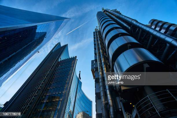 modern architecture in london's financial district - topics stock pictures, royalty-free photos & images