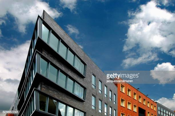 modern architecture in the netherlands - nijmegen stock pictures, royalty-free photos & images