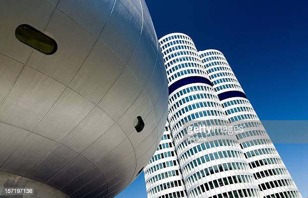 arquitectura moderna - munich fotografías e imágenes de stock