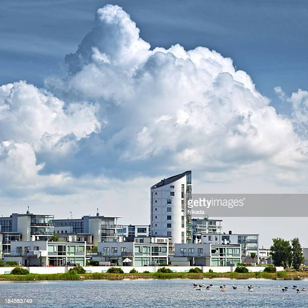 modern architecture - malmo stock pictures, royalty-free photos & images