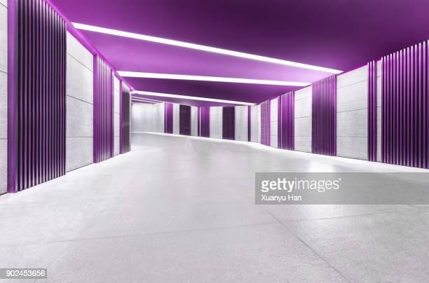 Modern architecture, purple corridor