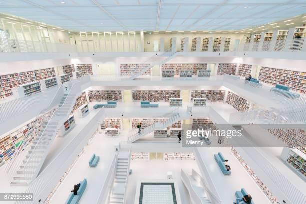 Modern Architecture Stadtbibliothek Stuttgart City Library
