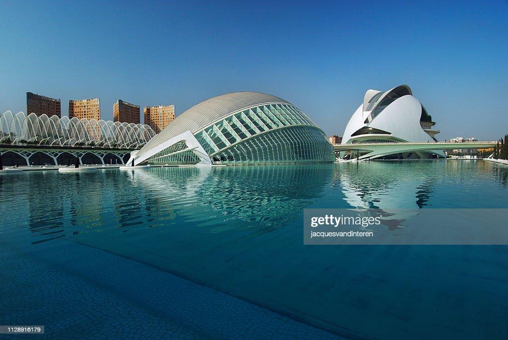 近代建築: バレンシア、スペインの芸術都市科学 : ストックフォト