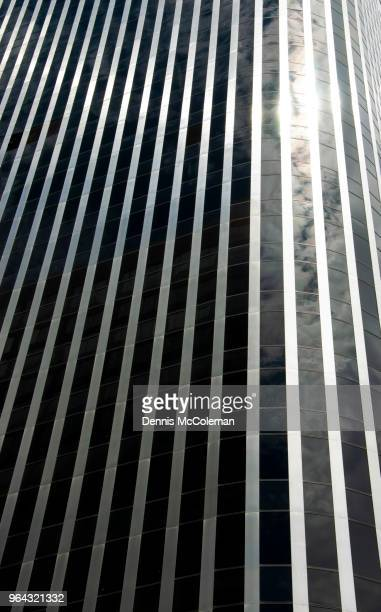Modern Architecture with Black and Silver Vertical Lines, Ottawa, Ontario, Canada