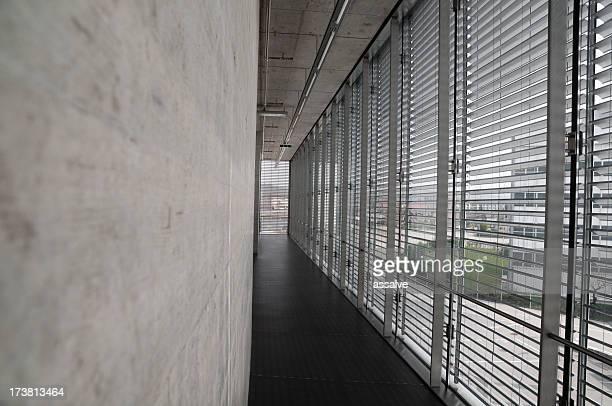Arquitectura moderna con vidrio y cemento