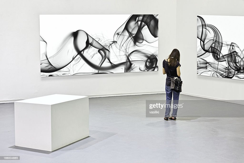 Modern art exhibition : Stock Photo