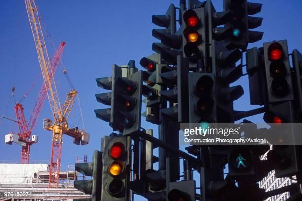 Modern art installation in Canary Wharf London United Kingdom