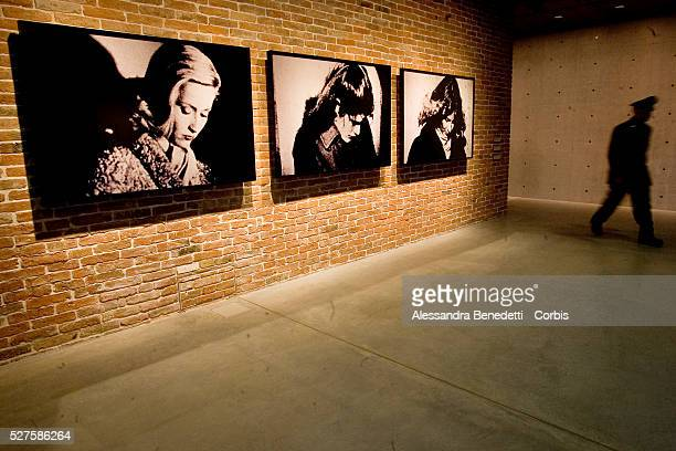 Modern artwork on display at the inauguration of Francois Pinault's Punta della Dogana contemporary art museum in Venice, which opens with the...