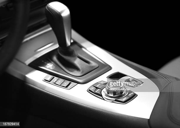 modern automatic gearshift and console