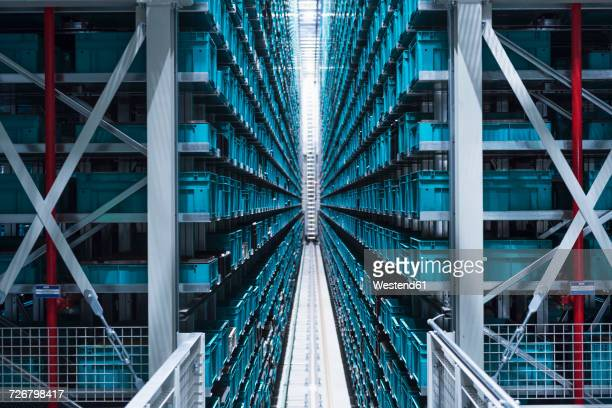 modern automatized high rack warehouse - automated stock pictures, royalty-free photos & images