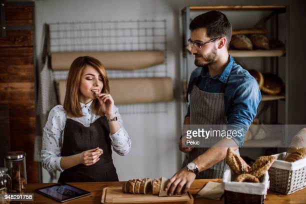 modern bakery business - gluten free bread stock pictures, royalty-free photos & images