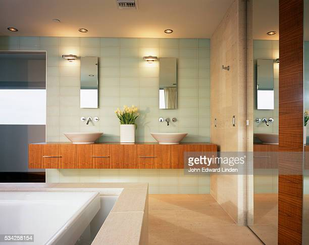 Modern Bathroom Featuring Overflow Tub