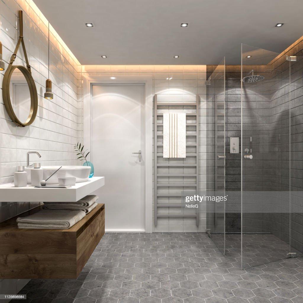 Modern bathroom interior : Stock Photo