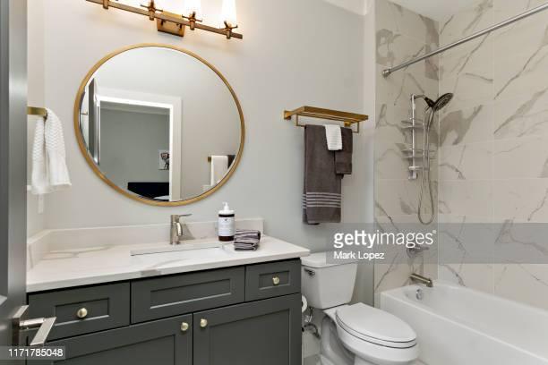 modern bathroom interior - toalett byggnadskonstruktion bildbanksfoton och bilder