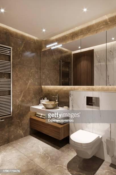 モダンなバスルームインテリア - ビデ ストックフォトと画像