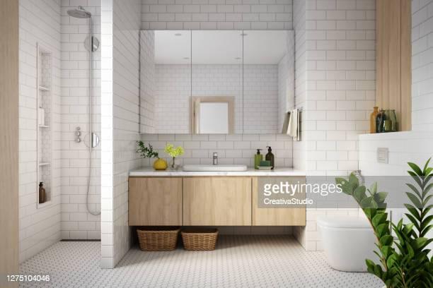 foto d'archivio modern bathroom interior - penisola scandinava foto e immagini stock